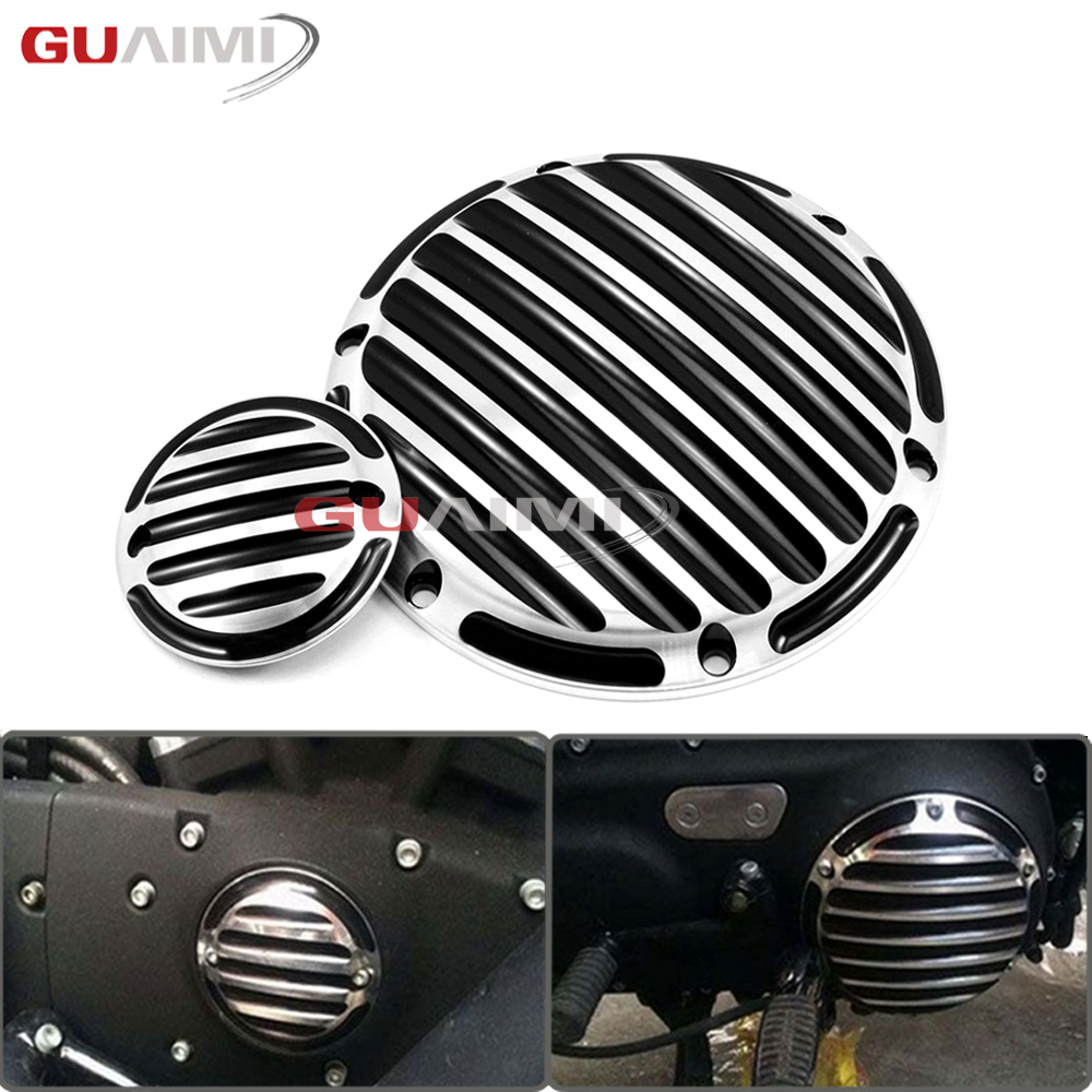 For Harley Sportster XL1200 XL883 XL48 Iron 883 1200 48 CNC Designe Motorcycle Engine Cover Derby&Timing Timer Cover 2004-2015
