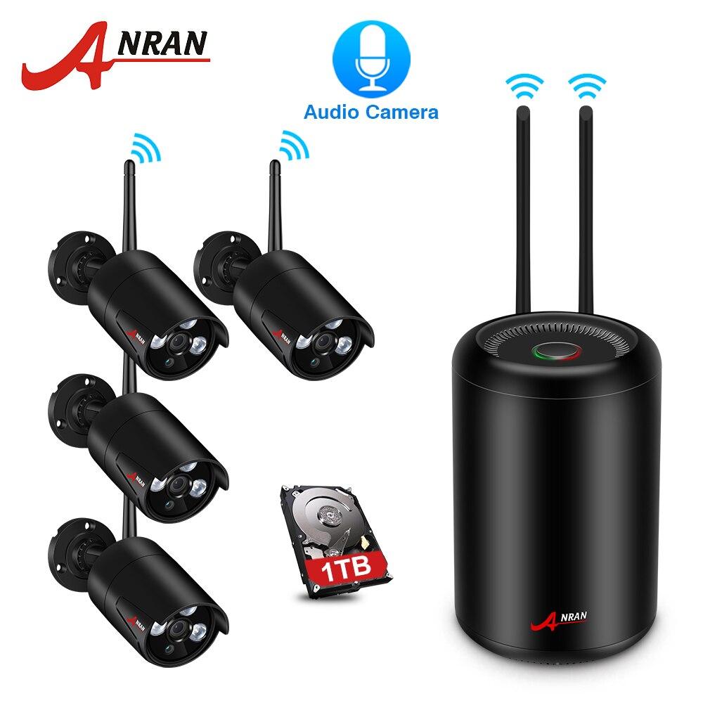 ANRAN Sans Fil kit nvr Accueil système de vidéosurveillance 2.0MP Full HD WIFI caméra de sécurité ip IR vision nocturne Caméra système cctv