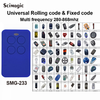 5 pieces Multi frequency 280 868MHZ rolling code clone remote control compatible SOMFY DOORHAN DITEC NICE FAAC CAME MARANTEC TAU