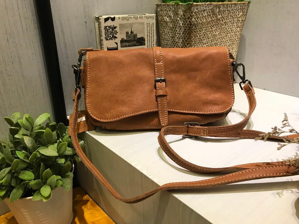 De Main Casual Messager handbag2237 Féminine Vendange Sac En À sac Cuir Nouvelle Vintage Apricot Bandoulière Mode La Vache BvaqXa0O