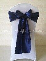Miễn phí Vận Chuyển 100 cái màu xanh hải quân Satin Sash Tịch Sash 15x275 cm Tịch Bow Knot cho wedding party khách sạn