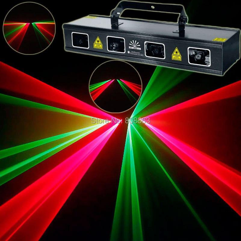 Eshiny Double R&G Laser Lines Beam Scans DMX512 Large Club Party Bar DJ Lighting Disco Dance Professional Stage Light D95
