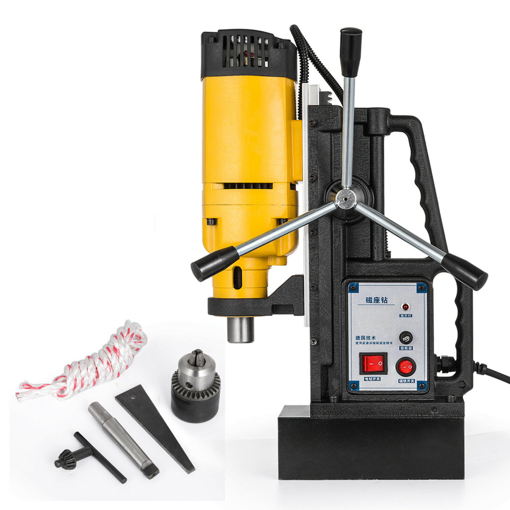 Vevor 1400W MB-23 Magnetic Base Drill Press 23mm Boring 13500N Magnet Force Tapping