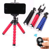Mini Flexible Octopus Sponge Tripod with Holder for Xiaomi Huawei Samsung Iphone Mobile Phones Tripod with Remote for Phones