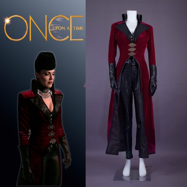 cosplaydiy custom made once upon a time evil queen regina red vision costume adult halloween queen