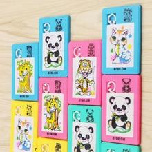 90s классические игрушки пластиковые головоломки-слайды Мультяшные животные панда Тигр лиса квадратный мобильный пазл развивающая игрушка для детей подарок