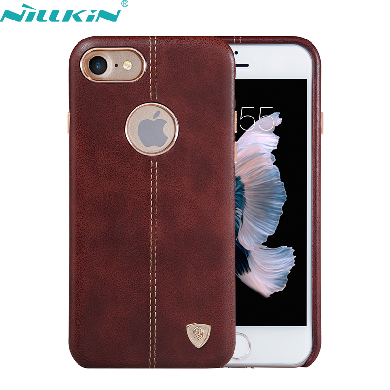 sale retailer a4579 3ed97 US $12.21 |For Apple iPhone 7 7 Plus Case iP7 7Plus for iPhone7 Leather  Cover NILLKIN Luxury Retro Quality Hard PC Back Cover Phone Cases -in ...