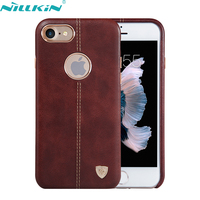 For Apple IPhone 7 7S Plus Case Original NILLKIN Luxury Retro Quality Hard PC Leather Back