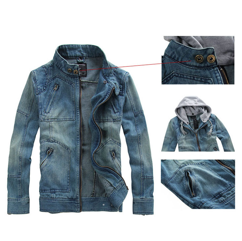 541c87b1d7 2016 Denim Jacket men Hooded Jean Jackets streetwear Slim fit Vintage Mens  Jacket and Coat outdoors Jeans clothing Plus size-in Jackets from Men s  Clothing ...