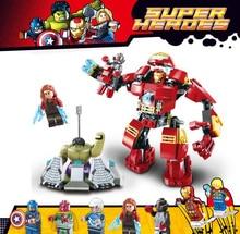 8019 Avengers Super Heroes 76031 Hulk Buster Ultron Iron Man Scarlet Vision Captain America Building Blocks Figures Bricks Toys