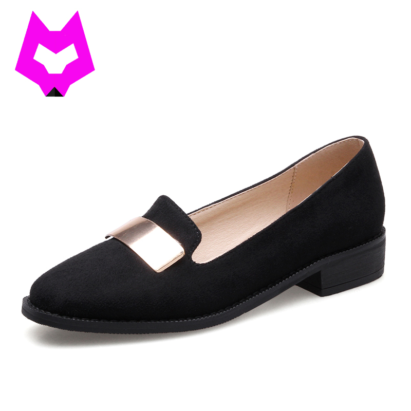Wolf who 2017 shoes woman Loafer Moccasins low-heels slip on shoes for women pointed toe metal Bling fashion women shoes casual  wolf who 2017 summer loafers cut out women genuine leather shoes slip on shoes for woman round toe nurse casual loafer moccasins