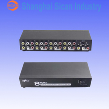 8 Port Audio Video AV RCA Switch Switcher Selector 1 to 8 Ports Splitter Box EP