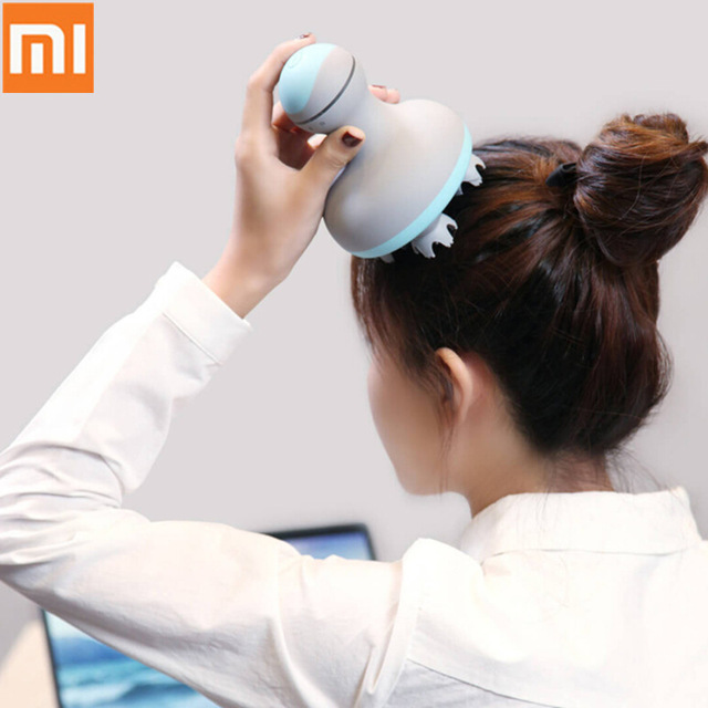 Original Xiaomi Mijia MINI Massageador de Cabeça Estéreo 3D 6 Tipos Manual de Massagem Massagem Instrumento Massagem Úmida E Seca Casa Inteligente