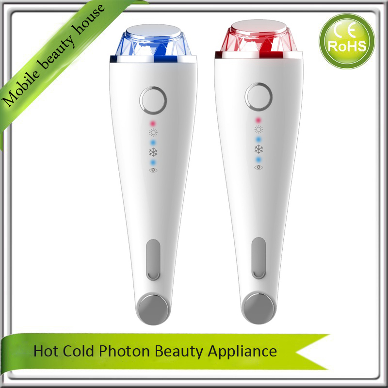 Anti Aging Shrink Pores Skin Tightening Lifting Firming Vibration Warming Cooling Led Photon Rejuvenation Face Beauty Appliance mini portable usb rechargeable ems rf radio frequency skin stimulation lifting tightening led photon rejuvenation beauty device