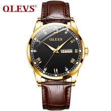 watches men 2019 relogio masculino Sport Stainless Steel Case Leather Band watch Quartz Business Wristwatch
