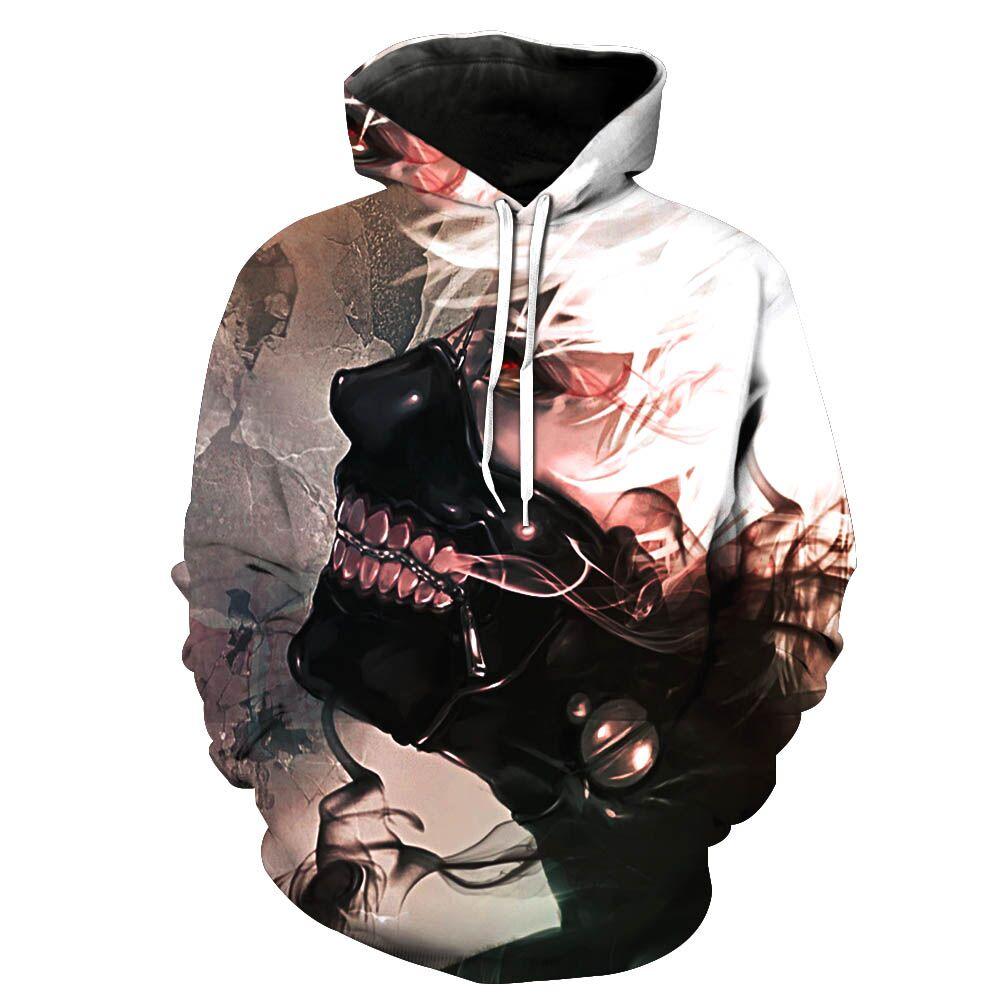 2017 New Fashion Men's 3D sweatshirt Anime Pattern hooded hoodies fashion clothes coat pocket s to 6xl Free shipping