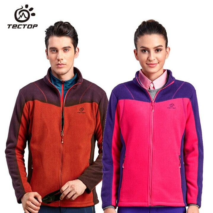 Tectop mujeres hombres thicke polar chaqueta al aire libre 100% original cposite