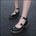 Shoes women / 2017  new sweet girl ankle buckle leather shoes, fashion retro oxford shoes for women Harajuku shoes zapatos mujer