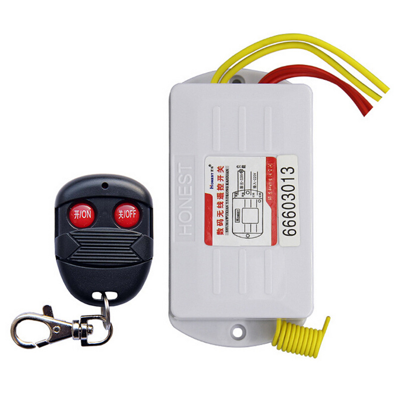цена на Newest 2 Way ON/OFF AC220V Digital Wireless Remote Control Switch Controller for Light Lamp