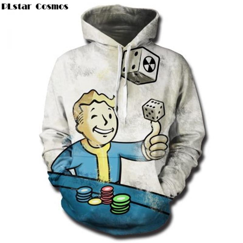 PLstar Cosmos Fallout Finger Hoodies Sweatshirts männer/frauen 3D Drucken Mit Kapuze Sweats Tops Streetwear Unisex hip hop Pullover