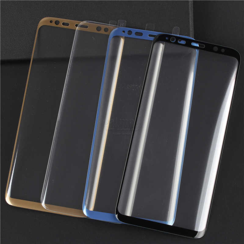 uk availability b843b cd0c4 Full Tempered Glass Film For Samsung Galaxy S8 S9 S10 Screen Protector 3D  Gorilla Protective Glass For Samsung S8 S9 Plus 9H