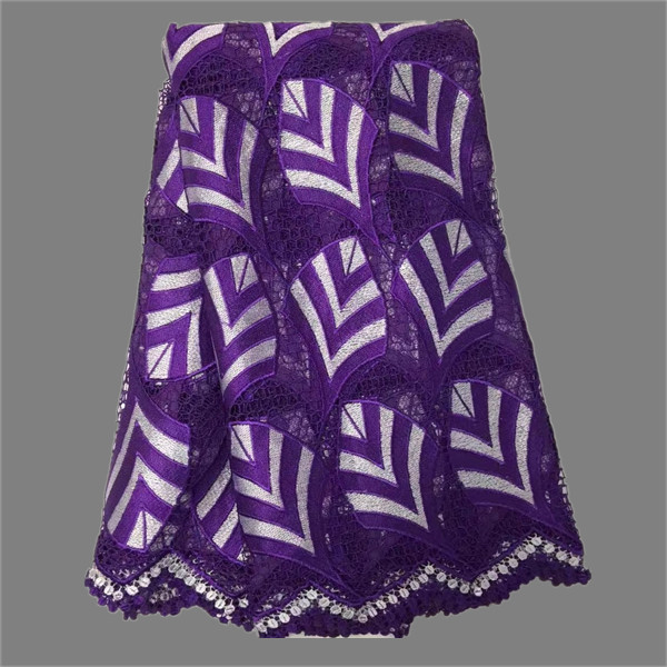 New fashion lady apparel material African water soluble lace fabric nice cord mesh cloth EWP60(5yards/lot)