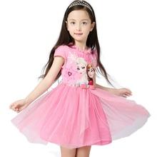 Monkids 2016 Summer Cartoon Baby Dress Lace Princess Dream Dress Cloak Princess Children's Costumes Snowflake