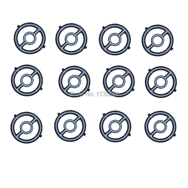 Engine Oil Cooler Seal Gasket For Mazda Engine 3 5 6 Cx 7: 12PCS Engine Oil Cooler Seal Gasket LF0214700 For Mazda