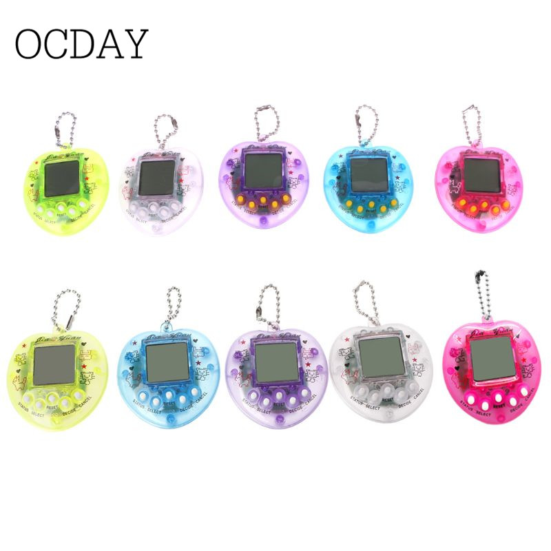 Cute Heart Shape LCD Virtual Digital Pet Electronic Game Machine With Keychain-in Handheld Game Players from Consumer Electronics