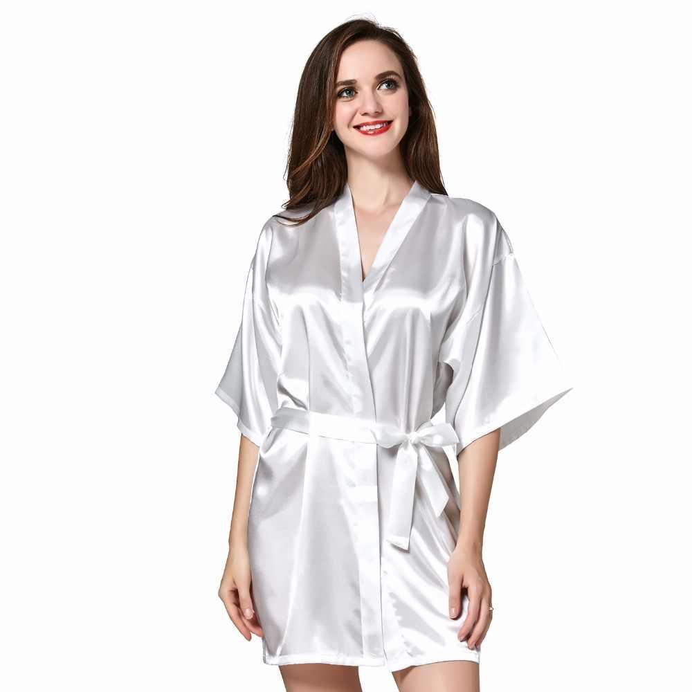 7c31fa27b ... Sleepwear Robe Wedding Bride Robes Pyjama Robe Female nightwear  Bathrobe Nightdress Nightgowns chemise Gown Negligee