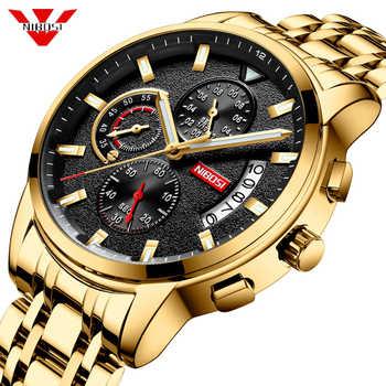 NIBOSI 2019 New Brand Quartz Watch Men Sport Watches Men Steel Band Military Clock Waterproof Gold Wrist Watch Relogio Masculino - DISCOUNT ITEM  83% OFF All Category