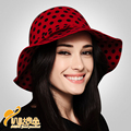 2016 New  Elegant Fashion Wool Hat Lady Wide Brim Fedoras Hat Women British Foldable Party Hat Female Outside Cap B-3180