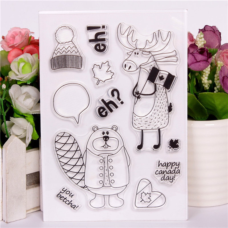 Rubber Silicone Clear Stamps For Scrapbooking Tampons
