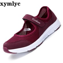 Women Flats Fashion Mom's Ballet Flats Ladies Casual Shoes Walking Spring Summer Loafers Breathable Air Mesh Walking Shoes все цены