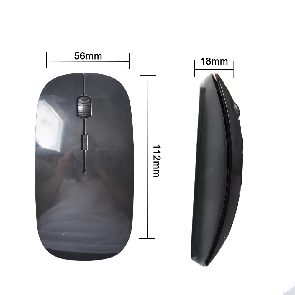 2.4G Wireless Mouse USB Optical Wireless Computer Mouse 2.4G Receiver Super Slim Mouse green 6