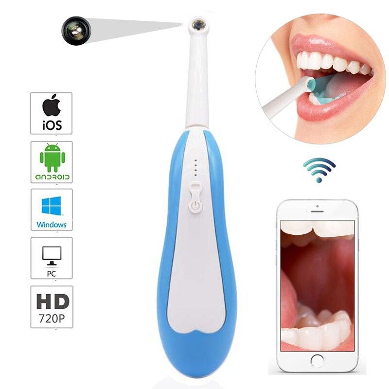 Caméra intra-orale sans fil WiFi HD pour vérifier les dents caméra dentaire orale outil caméra lumière LED surveillance Inspection caméra vidéo