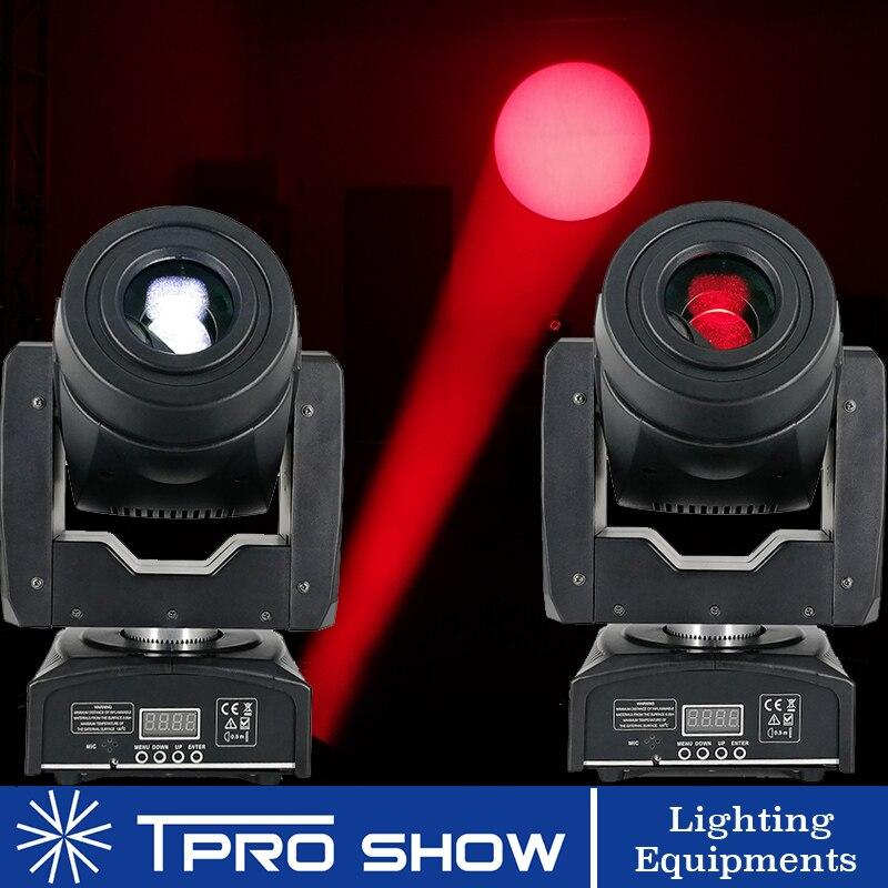 2pcs 90W Moving Head Spot Lyre LED Stage Light Dmx Gobo Prism Beam Effect Mini DJ Light for Party Club Wedding