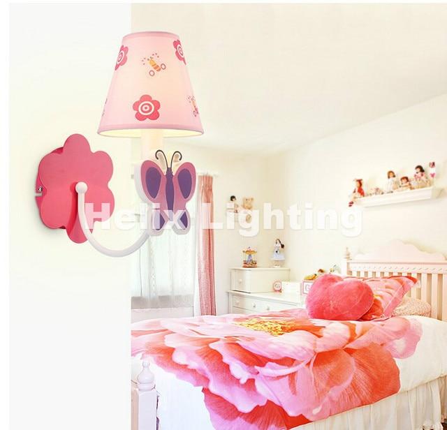 Children Lamp 1L Cartoon LED Wall Lamps Indoor Lighting Butterfly Design Children  Kids Bedroom LED Wall