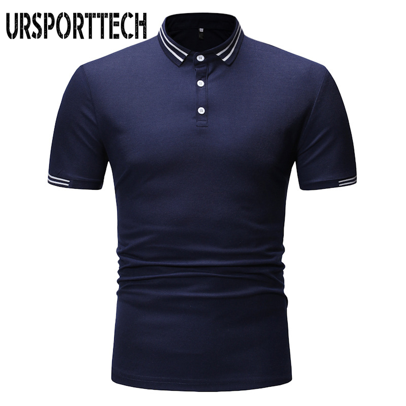 Brand Fashion Mens Polo Shirt Men Large Size Summer Casual Short Sleeve Spliced Polo Shirts Plus Size High Quality Shirts