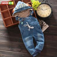 2018 New Baby Boys Animal Bib Pants Infant Jumpsuit Kids Overalls With Hoodies Children Lovely Clothes For Spring Autumn