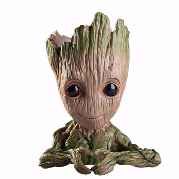 Baby Groot Flowerpot Flower Pot Planter Action Figures Guardians of The Galaxy Toy Tree Man Cute Model Toy Pen Pot Drop Shipping