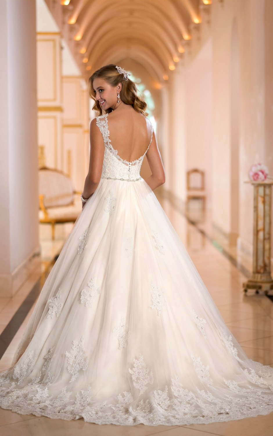 For Brides Looking Wedding Dresses With Lace This Striking Ballgown From Stella York Blooms Whimsy A Line Dress In