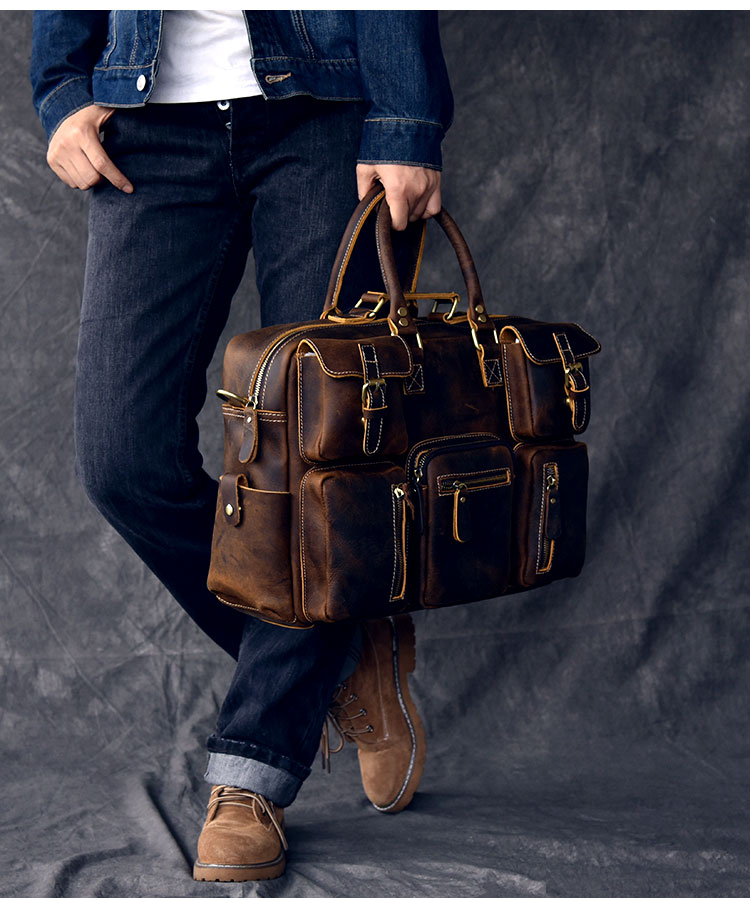 Luxury & Vintage Leather Messenger Bag model