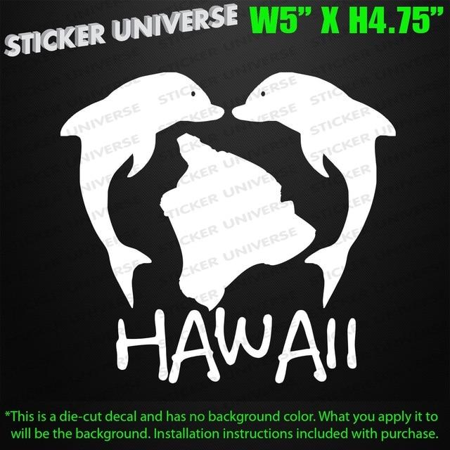 Car styling for hawaii jumping dolphins die cut decal bumper sticker hawaiian island beach 0359