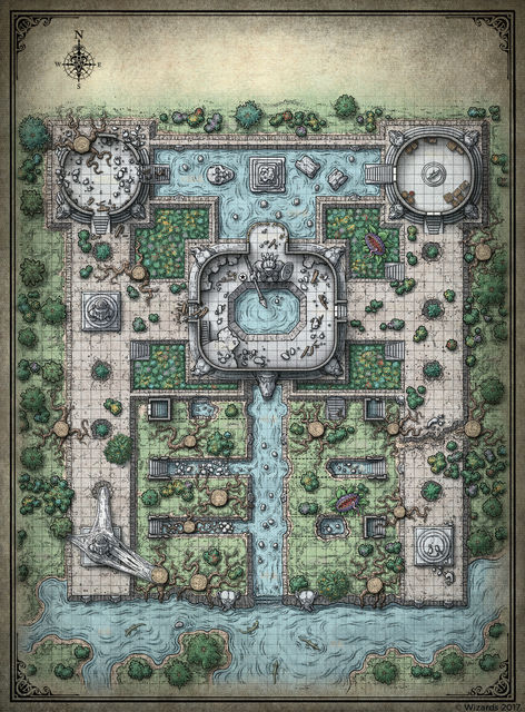 Dungeons And Dragons Maps Vintage D&D Dungeons and Dragons Maps Poster Royal Gardens Classic