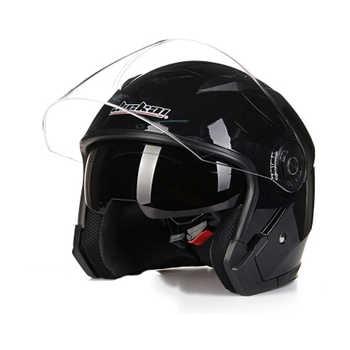 JIEKAI 512 3/4 open face helmet double lens motorcycle helmet SAFETY MOTORBIKE HELMET four season helmet