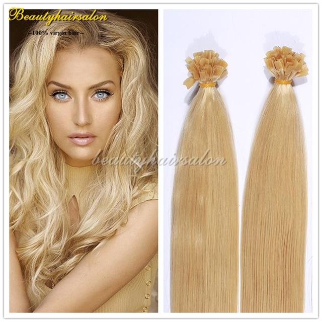Aliexpress Buy Pre Bonded Flat Tip Hair Extensions Keratin