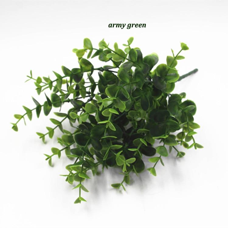 Simulation Big Leaf Eucalyptus Artificial Flowers Green