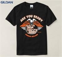 Cute Men T Shirt 4xl Heavy Metal Rock Band Thin Lizzy Music Pop Mens Costumes Causal