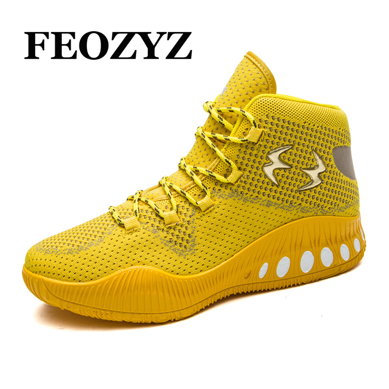 FEOZYZ Men Basketball Shoes High Top Breathable Shock Absorption Basketball Sneakers Athletic Shoes Basket Homme 2017 peak sport speed eagle v men basketball shoes cushion 3 revolve tech sneakers breathable damping wear athletic boots eur 40 50
